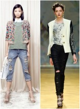 Spring 2014 Fashion Week Trends: Distressed Boyfriend Jean