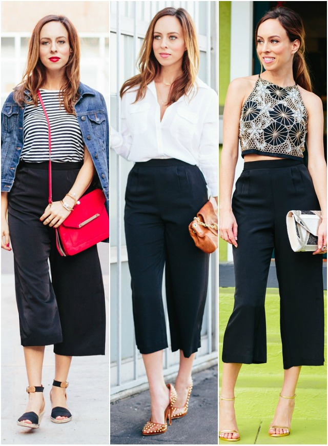 Staples Series: How to Wear Culottes